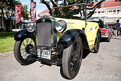 Austin 7 convertible on Vintage Car Parade Editorial Photography