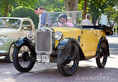 Austin 7 convertible on Vintage Car Parade Editorial Stock Image