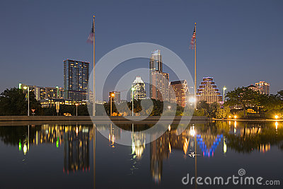 Austin at Night, Texas Editorial Stock Image