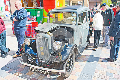 Austin seven saloon at Inverness Rally Editorial Photography