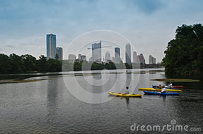Austin Skyline Editorial Stock Image