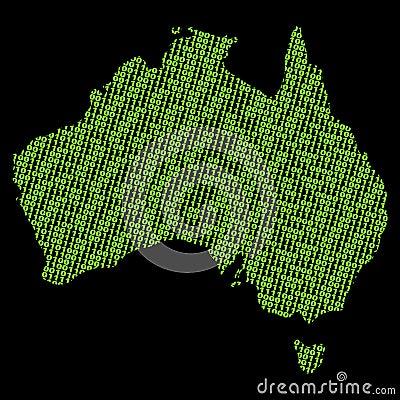 Australia binary map