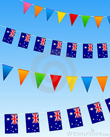 Australia bunting flags