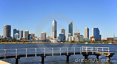 Australia City of Perth panoramic view
