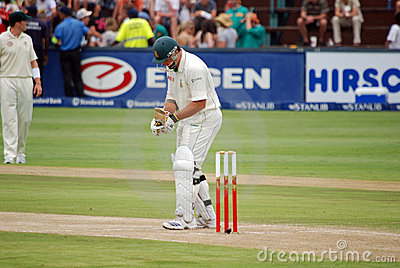 Australia Cricket tour to South Africa Feb 2009 Editorial Stock Photo