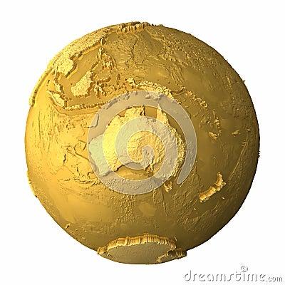 Australia kuli ziemskiej złoto
