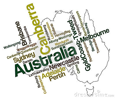Australia map and cities