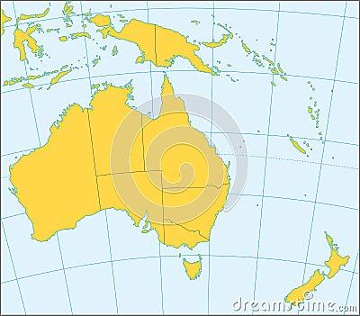 Australia and Oceania political map