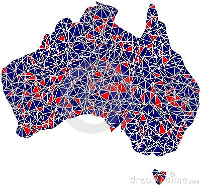 Australia outline mosaic tiles