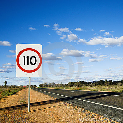 Free Australia Speed Limit Sign Stock Images - 4414234