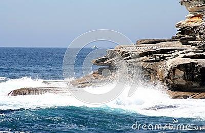Australia waves & boat