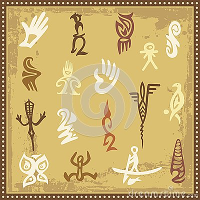 Australian Aboriginal Petroglyph Ornaments