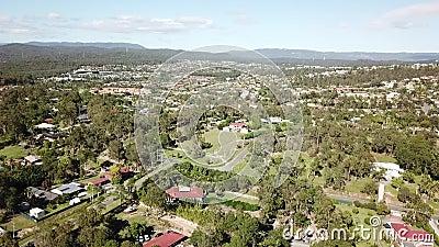 Australian Acreage Home Estate -Drone Shot 80 Meters high stock video footage