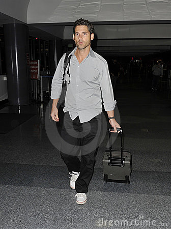 Australian actor Eric Bana is seen at LAX Editorial Image