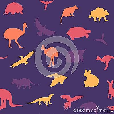 Free Australian Animals Pattern. Royalty Free Stock Image - 63867796