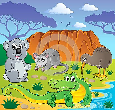 Free Australian Animals Theme 3 Royalty Free Stock Image - 27923896