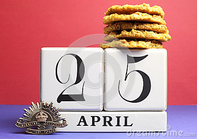 Australian ANZAC Day, April 25, save the date with traditional Anzac biscuits.