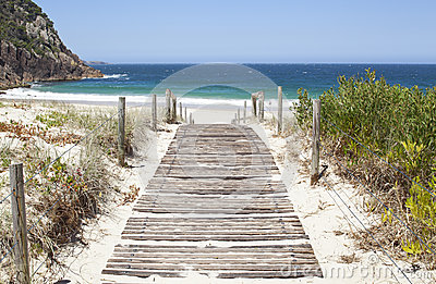 Australian Beach Boardwalk