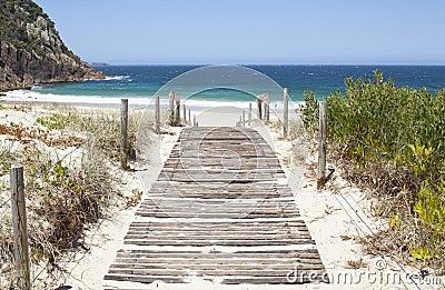 Australian Beach Boardwalk