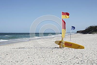 Australian Beach Surf Rescue on a sunny day