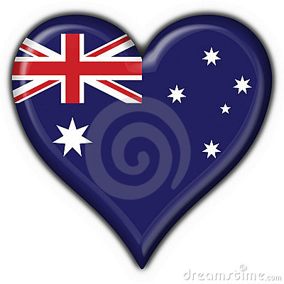 Australian button flag heart