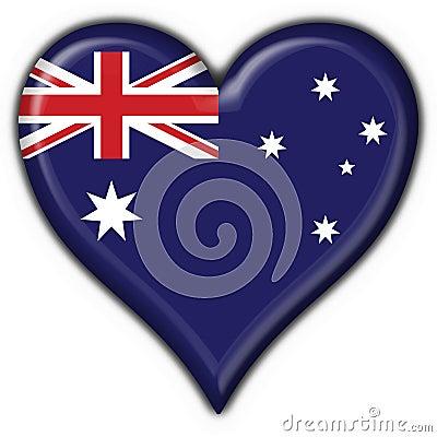 Australian button flag heart
