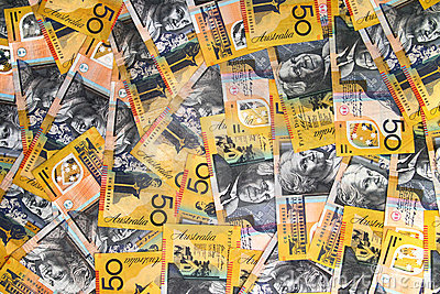 Australian Currency close-up