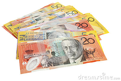 Australian Currency Pile