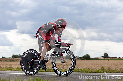 The Australian Cyclist Evans Cadel Editorial Stock Photo
