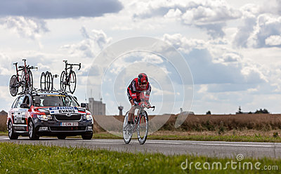 The Australian Cyclist Evans Cadel Editorial Stock Image