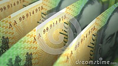 Australian Dollar Close-up. (seamless