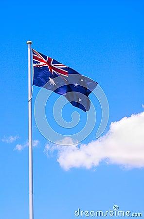 Australian Flag and Blue Sky