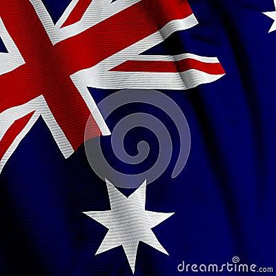 Australian Flag Closeup