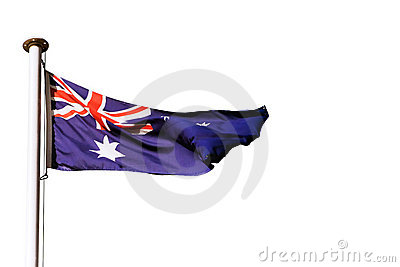 Australian flag isolated on white
