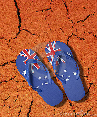 Australian Flag Thongs Icon