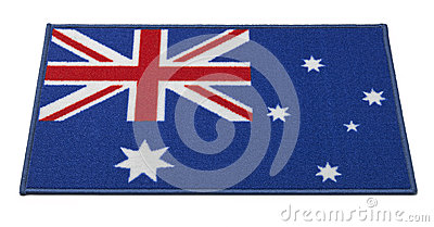 Australian Flag Welcome Mat