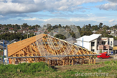 Australian house under construction