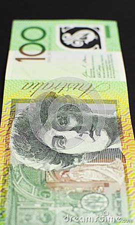 Australian hundred dollar note - vertical.