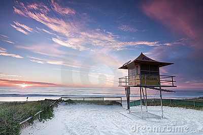 Australian lifeguard hut (gold coast,australia)
