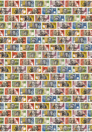 Australian Money Dollars Background