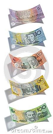 Australian Money Dollars Isolated