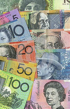 Australian money fan and detail
