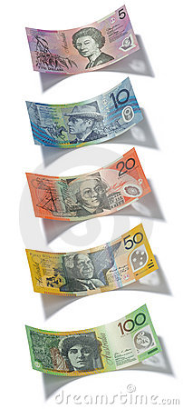 Australian Money Notes Dollar Dollars
