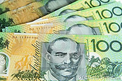 Australian 100.00 notes