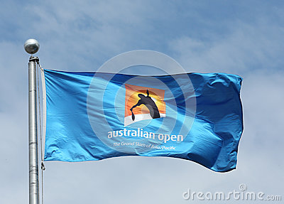 The Australian Open flag Editorial Stock Image