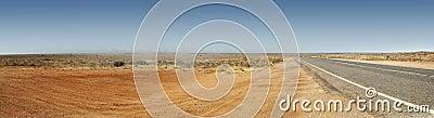 Australian Outback Road Panorama