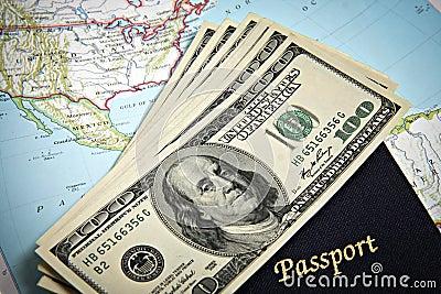 Australian passport and banknotes