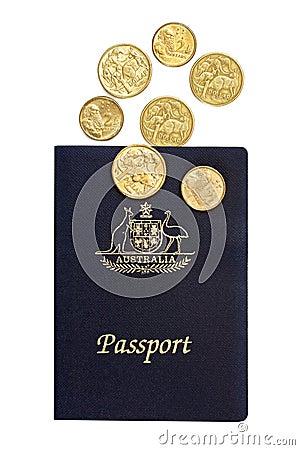 Australian Passport and Coins