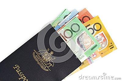 Australian Passport and Money
