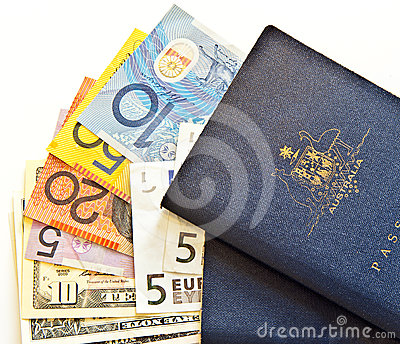 Australian passports and currency